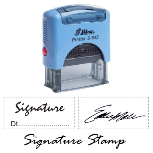 Shiny Signature Stamps