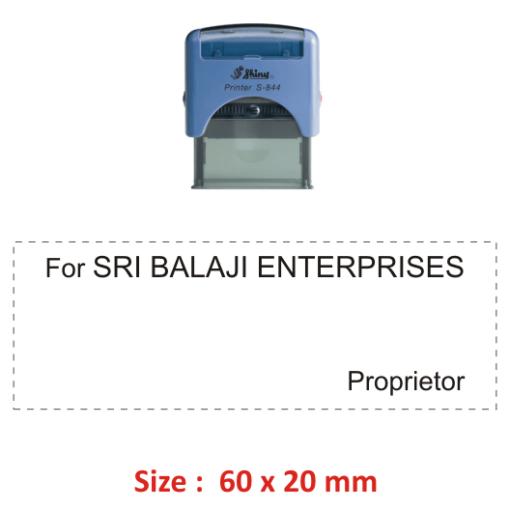 Buy Shiny Proprietor Stamp Online Madhu Stamps India