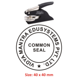 Shiny Embossing Seal 40 mm