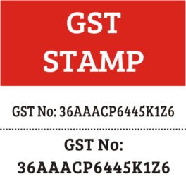 GST Rubber Stamps